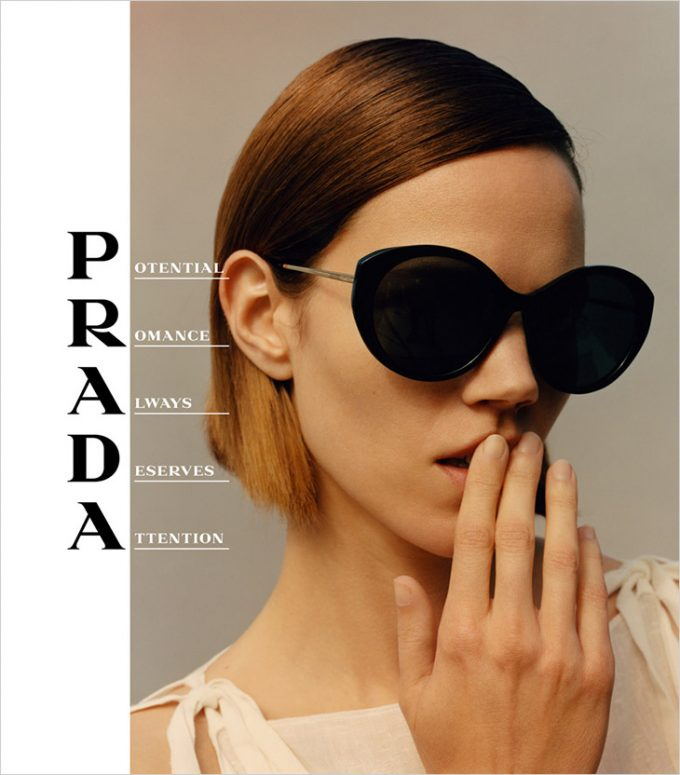 Prada shades it with new eyewear collection