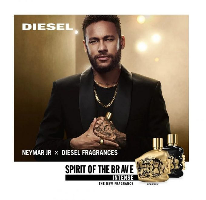 Neymar Jr. up front for Diesel's Intense edition of Spirit Of The Brave