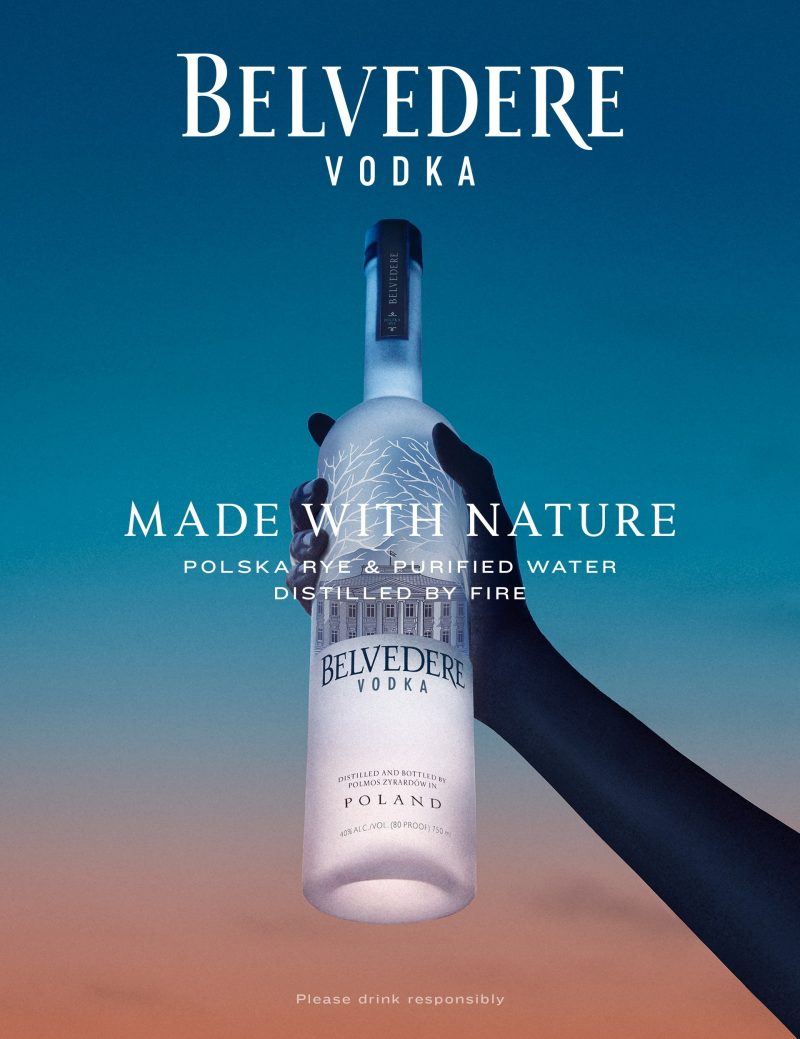 Belvedere releases 'Made With Nature' campaign and Heritage 176, vodka distilled by fire