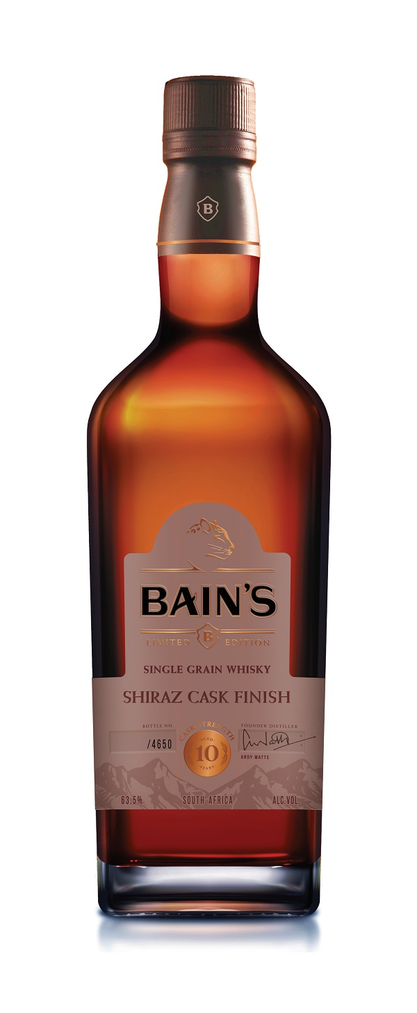 Bain's Cape Mountain launches duty-free exclusive 10-Year-Old Shiraz Cask Finish whisky