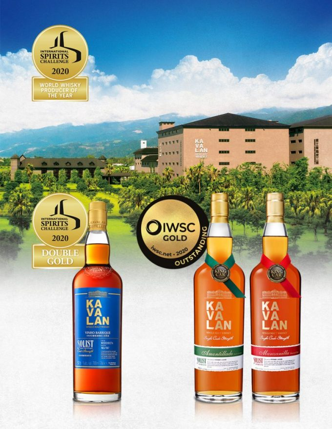 Kavalan scoops 'World Whisky Producer of the Year' award at ISC 2020