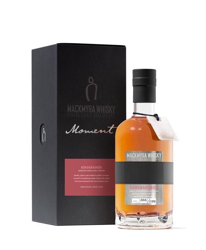 Mackmyra Swedish whisky unveils cherry smoke limited edition, Moment Körsbärsrök