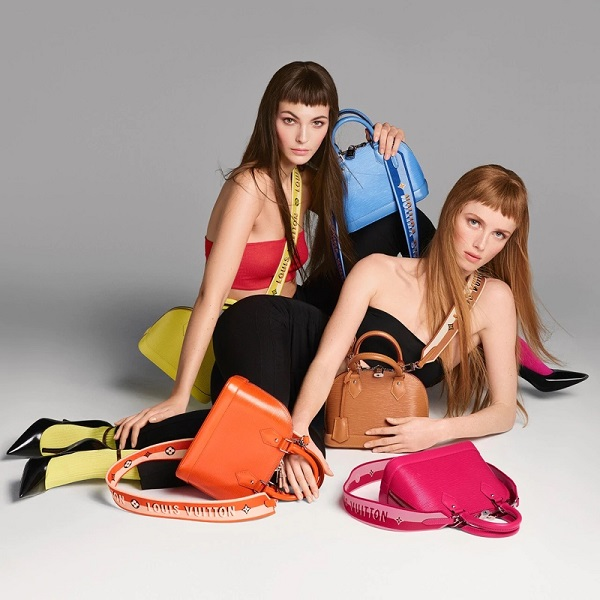 Louis Vuitton's brings a rainbow of eye-popping colours to its Alma bags for Spring