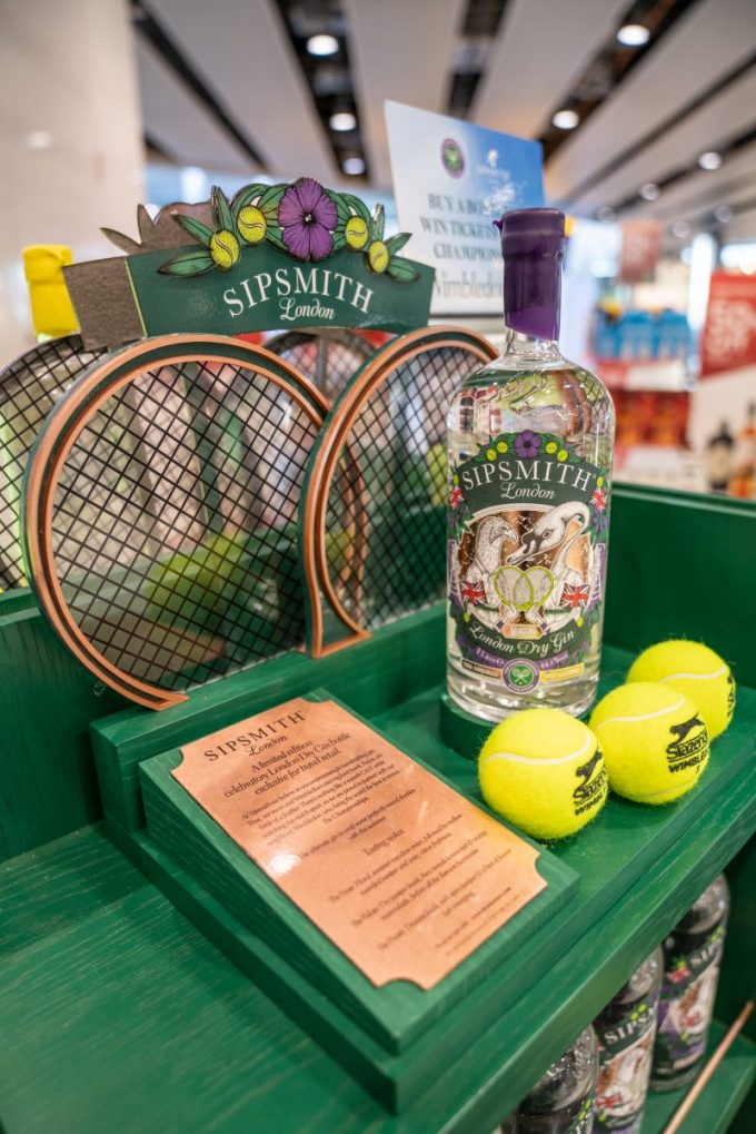 Sipsmith serves a winner with duty-free exclusive Wimbledon Gin 🎾🍸