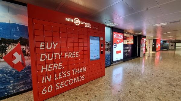 Geneva Airport & Lagardère reveal the world's first digital duty-free vending machine