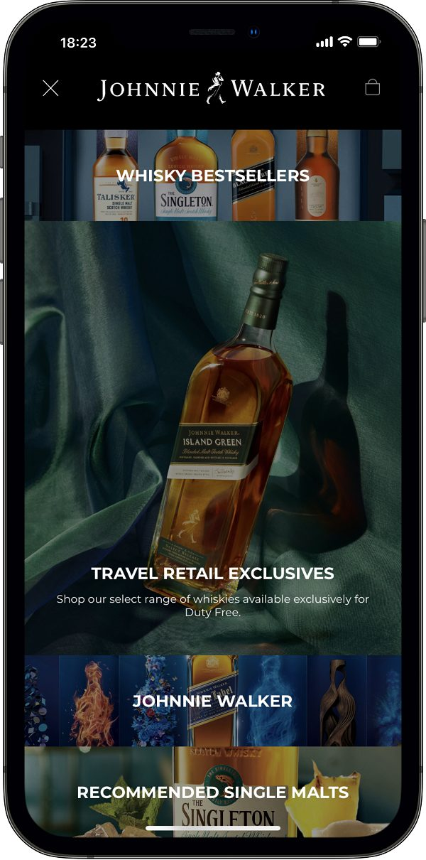 Diageo partners with DFS and Inflyter to launch a digital whisky E-boutique for US travellers