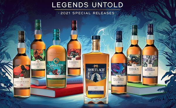 """Diageo unveils 2021 Scotch Whisky Special Releases Collection """"Legends Untold"""""""